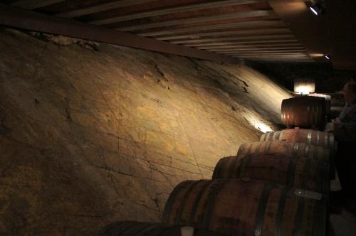 В подвале, который тоже не поражает размером, одна из стен - природная, из ликорейи.
